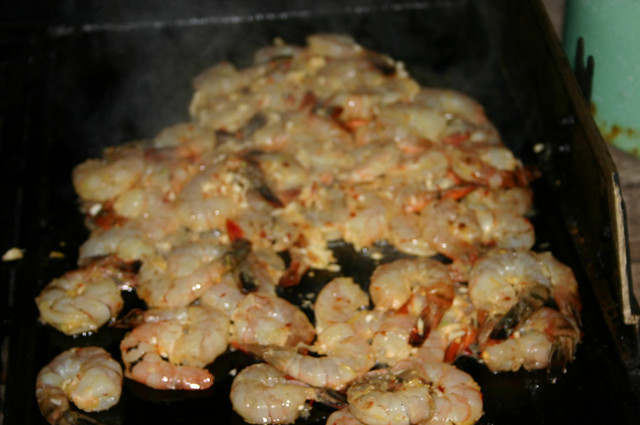 prawns on the barbie