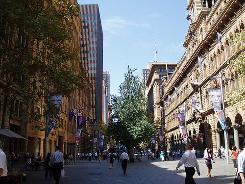 sydney city at walking level