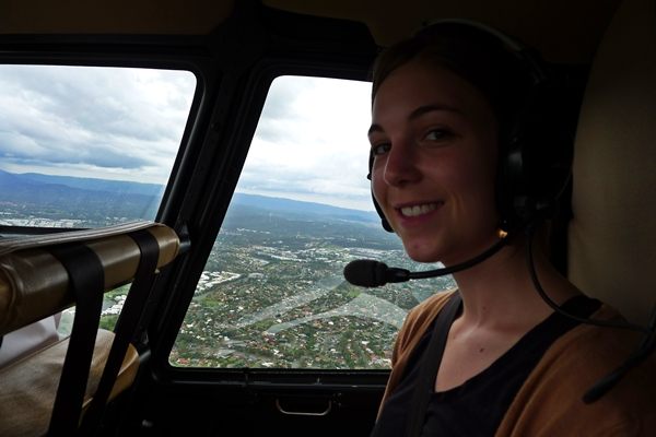 brooke in helicopter