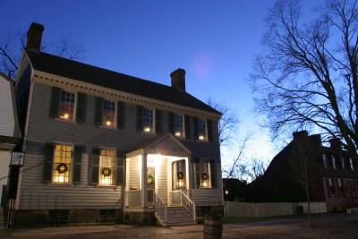 Colonial Williamsburg at night (courtesy VisitWilliamsburg)