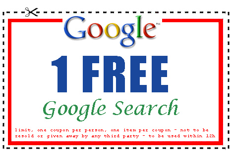 "Google search ""coupon"" (courtesy Bramus! at Flickr CC)"