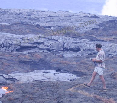 Hot Lava flows creeping above ground