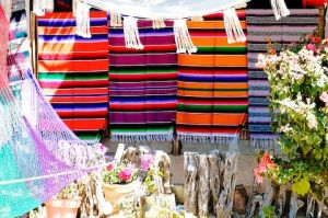 Colorful textiles in Todos Los Santos