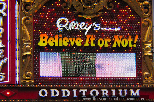Ripley's Believe it or Not Odditorium NYC